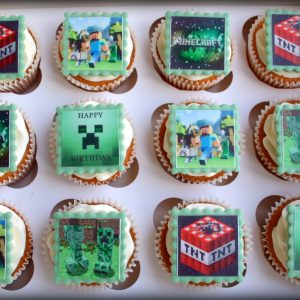 Afbeelding Vierkante Cupcake of Taart Creaties