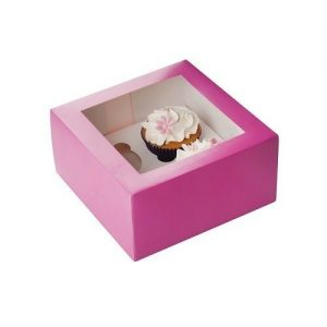 Afbeelding Roze Cupcake Doosje
