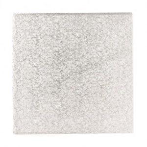 Afbeelding Vierkante Zilver Cakeboard